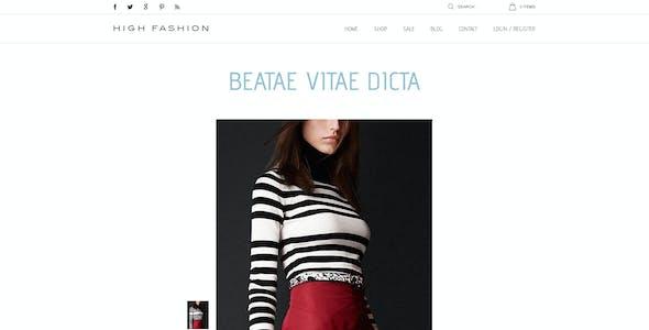 High Fashion Responsive Shopify Theme - Parallax