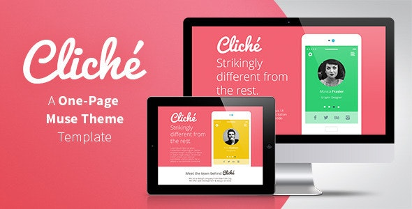 Cliché - One Page Muse Template - Creative Muse Templates