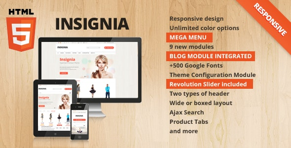 Insignia - Flexible OpenCart Theme - OpenCart eCommerce