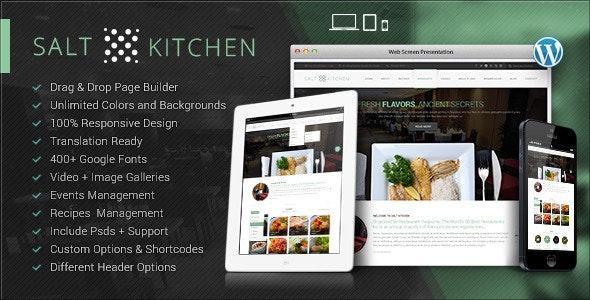 SaltKitchen-Restaurant Food Recipe Theme - Food Retail