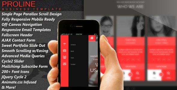 Proline - Parallax Responsive HTML5 Template - Business Corporate