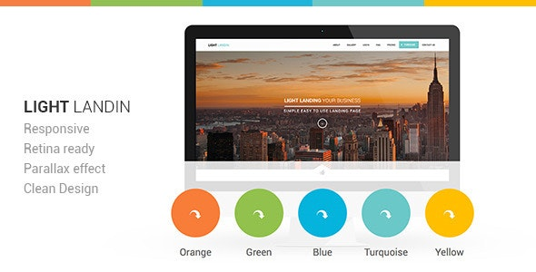 Light Multipurpose Parallax Landing Page - Landing Pages Marketing