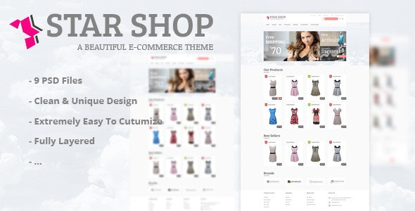 Star Shop - PSD Template - Fashion Retail