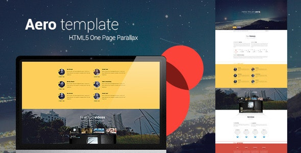 Aero HTML5 one page creative parallax - Creative Site Templates