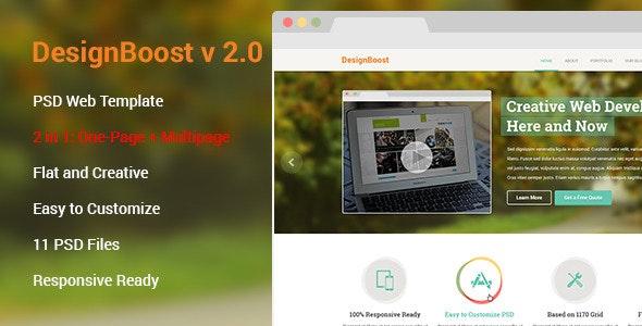 DesignBoost PSD Web Template 2.0 - Creative Photoshop