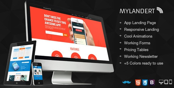 My Landert - App Responsive Landing Page - Apps Technology