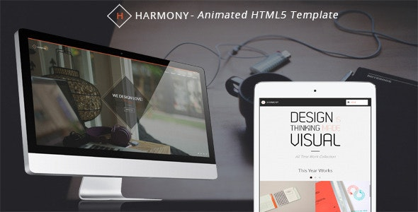 Harmony - Animated One-Page HTML 5 Template - Portfolio Creative