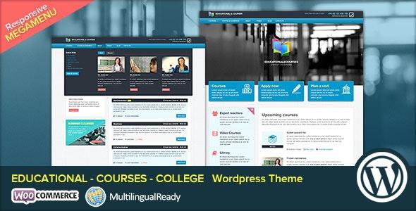 EDU - Educational, Courses, College WP Theme - Education WordPress