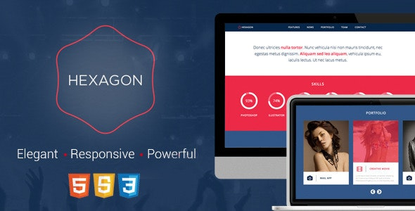 Hexagon - Responsive HTML5 Template - Corporate Site Templates