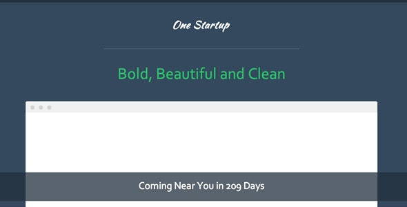 Coming Soon - One Startup Template - Technology Site Templates