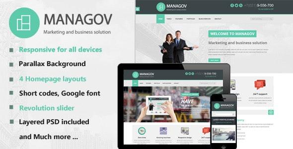 Managov Multi-Purpose HTML Template - Business Corporate