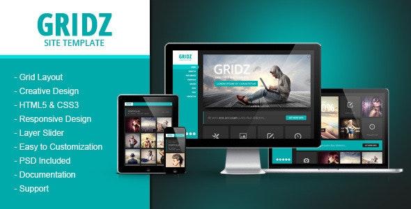 Gridz - Responsive HTML5 Template - Creative Site Templates