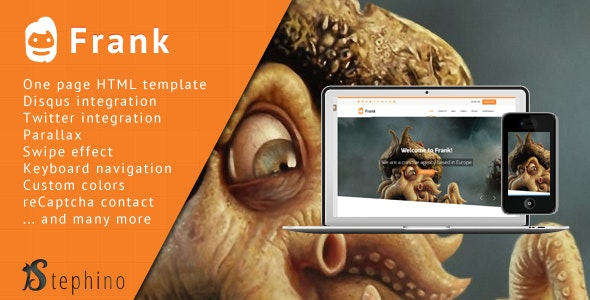 Frank - Responsive One Page HTML by stephino | ThemeForest