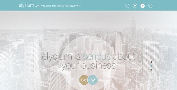 Elysium Multipurpose PSD Template