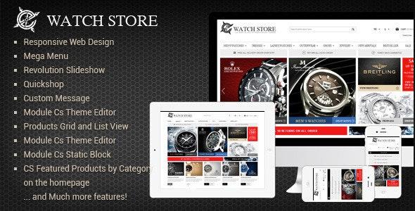 Responsive Prestashop Theme - WatchStore - Fashion PrestaShop