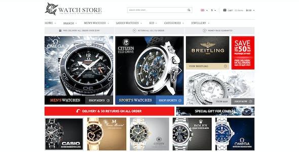 Responsive Prestashop Theme - WatchStore
