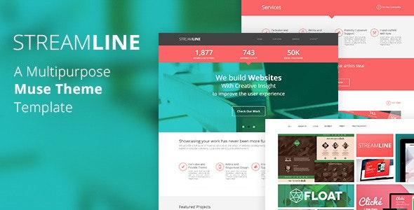 StreamLine - A Multipurpose Muse Template - Corporate Muse Templates