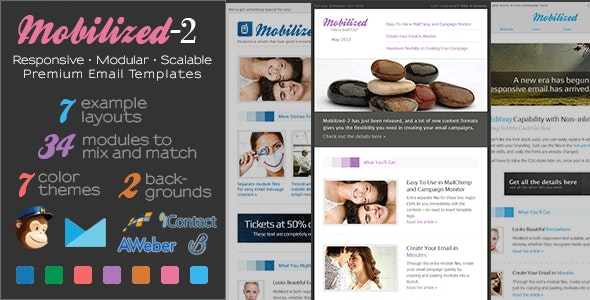 Mobilized-2 - Responsive & Modular Email Templates - Newsletters Email Templates