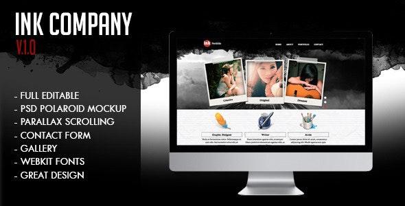 Ink Company  | Personal Creative Portfolio - Creative Muse Templates