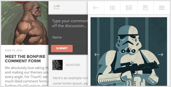 TOUCH: A Lighter-than-air WordPress Mobile Theme - Mobile WordPress