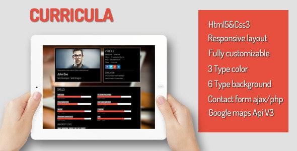Curricula - Virtual Business Card Personal