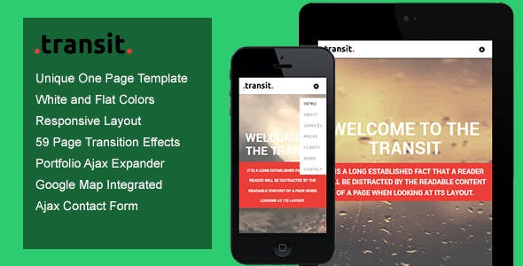 Transit - One Page Transition Template