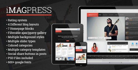 iMagPress - Flat Magazine Theme - News / Editorial Blog / Magazine