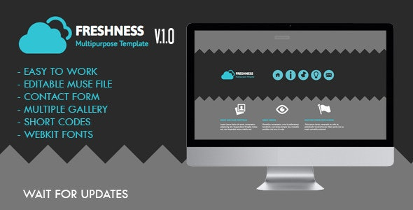Freshness Muse Template  - Creative Muse Templates
