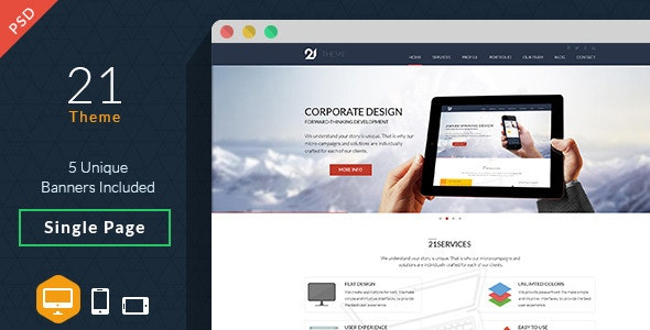 21-Theme Multipurpose PSD - Creative PSD Templates