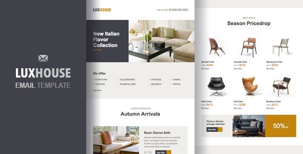 ECommerce Email Templates from ThemeForest