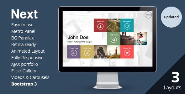 NEXT - Unique & Easy Portfolio Responsive HTML5