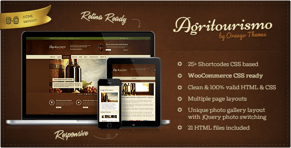 AgriTourismo - Winery & Restaurant Template - Retail Site Templates