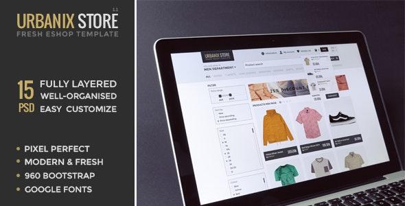 Urbanix Store - Fresh Eshop Template - Retail Photoshop
