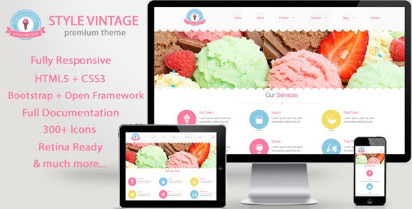 Style Vintage - Vintage Responsive Drupal 7 Theme - Business Corporate