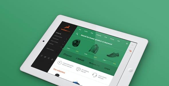 Multipurpose Flat Shop design - PSD Template