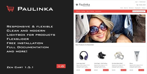 Paulinka - Elegant & Responsive Zen Cart Theme - Zen Cart eCommerce