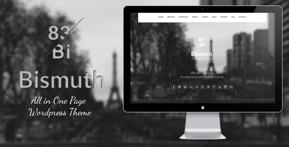 Bismuth : All in One Responsive WP Theme - Creative WordPress