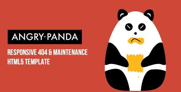 AngryPanda - Responsive 404 & Maintenance Template - 404 Pages Specialty Pages