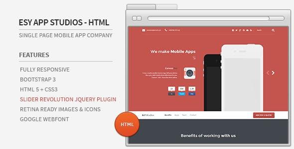 Esy App Studios - HTML Website