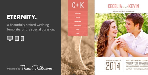 Eternity - Responsive Wedding Template by ThemeChills