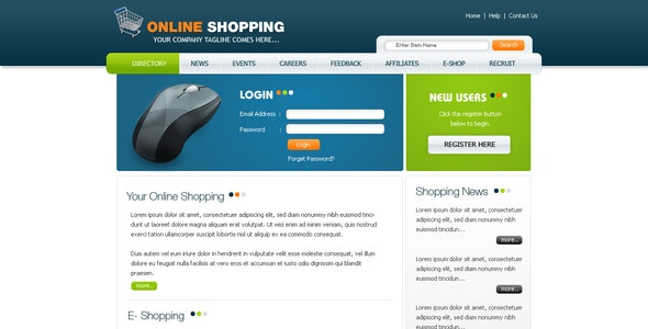 Clean and Modern Online Shopping Template - Shopping Retail