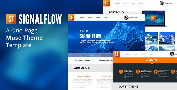 SignalFlow - One Page Muse Template - Creative Muse Templates