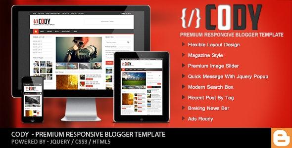 Cody - Responsive Magazine Blogger Template - Blogger Blogging
