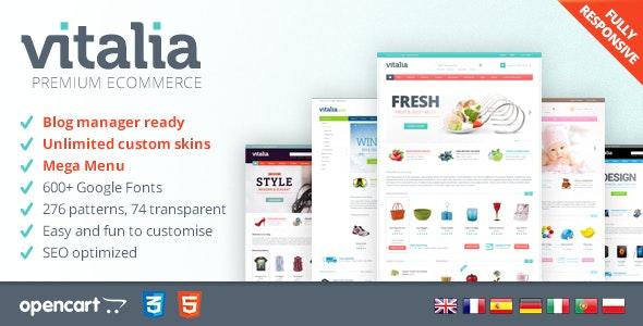 Vitalia - Responsive OpenCart Template - OpenCart eCommerce