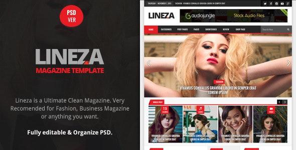 Lineza - Ultimate Unique Magazine PSD Template - Creative Photoshop