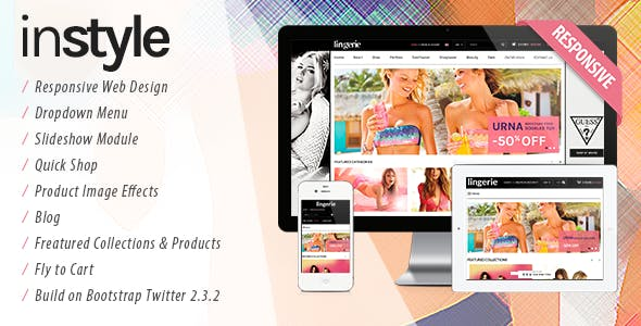 Lingerie Store Responsive Shopify Theme - Instyle