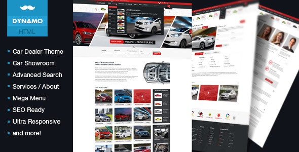 Dynamo -  Rent-Sell-Buy Car Dealer HTML Responsive - Business Corporate
