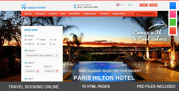 aTourist - Hotel, Travel Booking Site Template