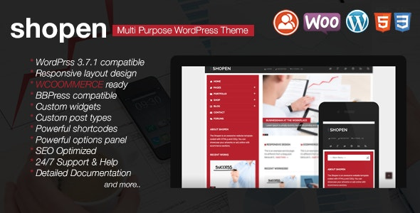 Shopen - Responsive WooCommerce WordPress Theme - Marketing Corporate