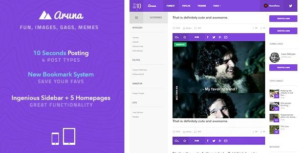 Aruna - Retina Meme / Gag / Image Sharing Template - Entertainment Site Templates